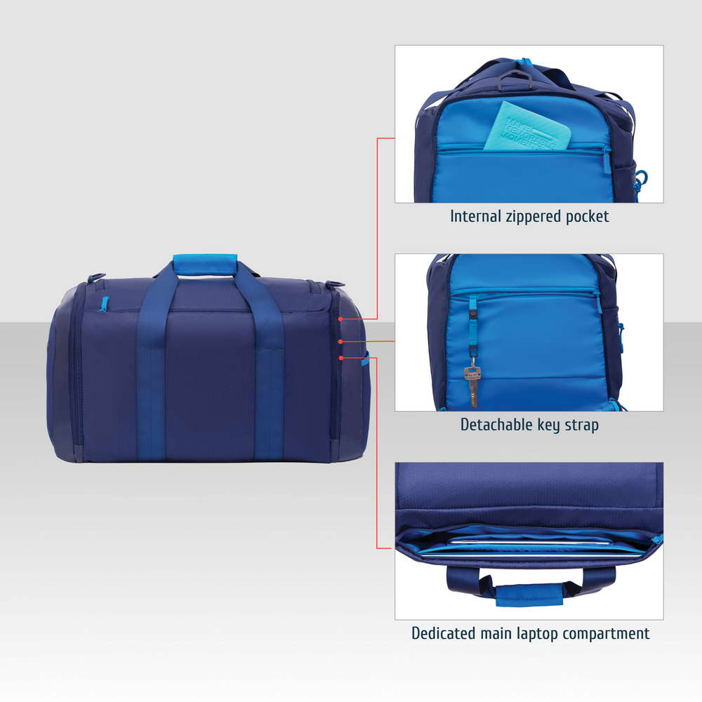 5331 blue 35L Duffel bag