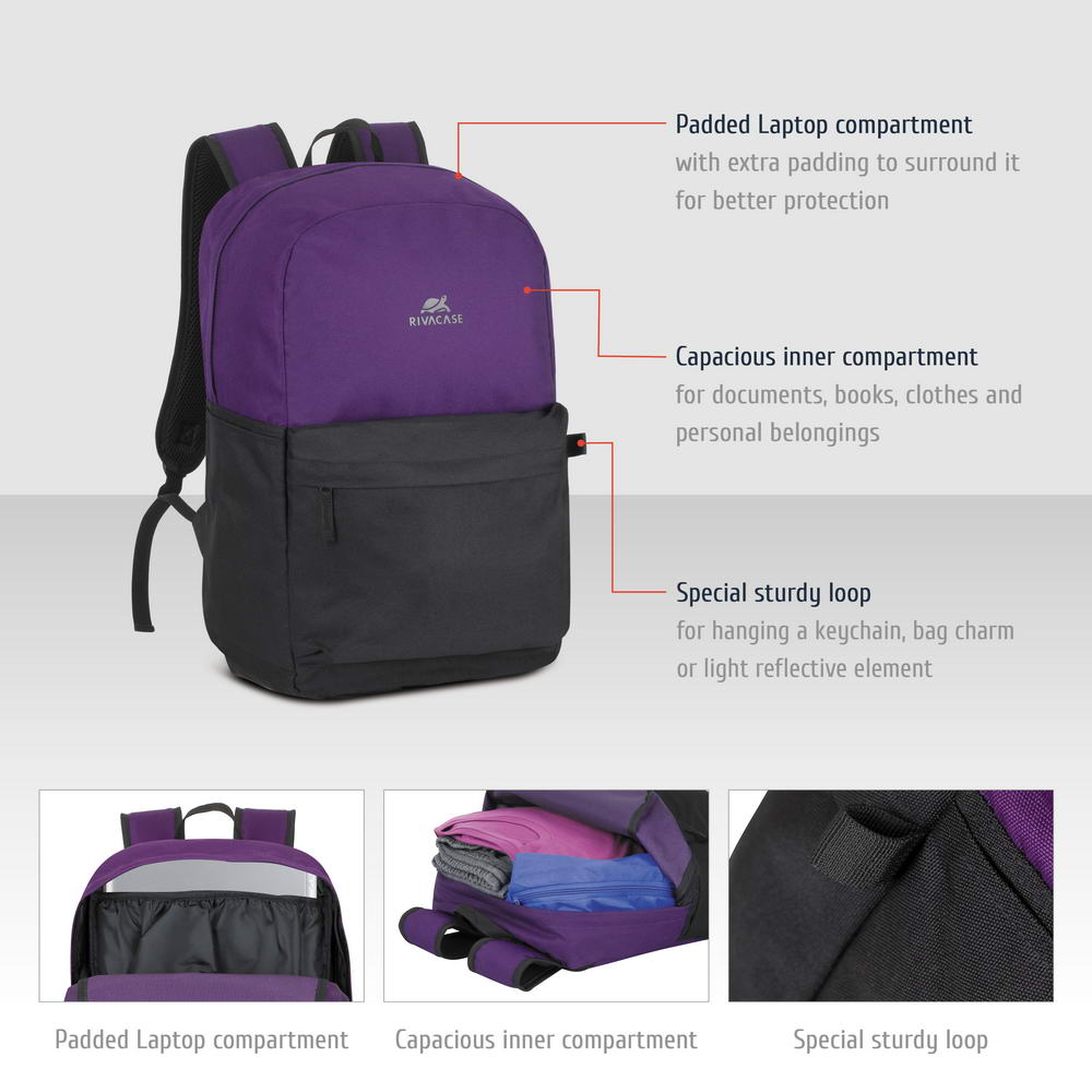 5560 signal violet/black 20L Laptop backpack 15.6