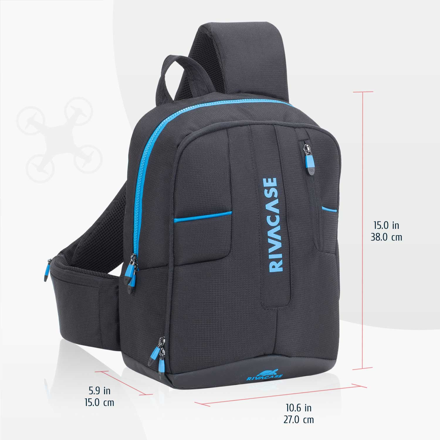 7870 black Drone Slingbag medium for 13.3