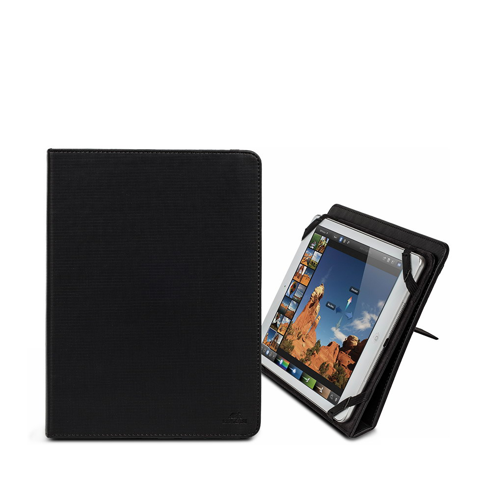 3217 black kick-stand tablet folio 10.1