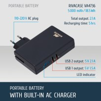 VA4736 EN rechargeable battery with built-in wall charger