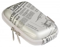 7103 (PU) Digital Case silver (newspaper)