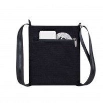 8509 black Canvas Crossbody bag
