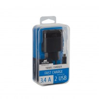 VA4123 BD1 EN wall charger (2 USB /3.4 A), with Micro USB cable