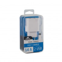 VA4123 WD1 EN wall charger (2 USB /3.4 A), with Micro USB cable